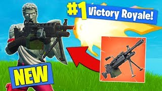 NEW EPIC LMG GAMEPLAY In Fortnite Battle Royale