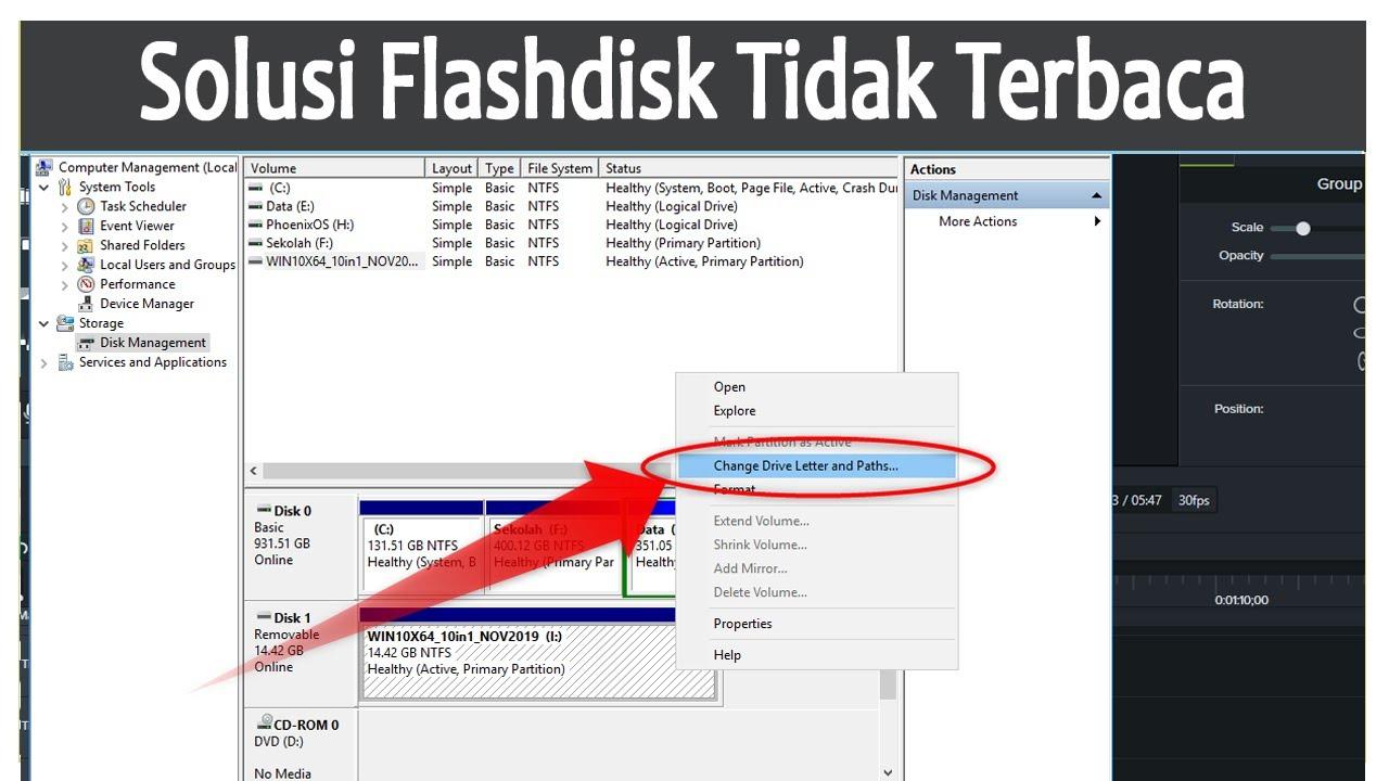 Cara Memperbaiki Flashdisk Yang Tidak Terbaca Tanpa Di Format Youtube