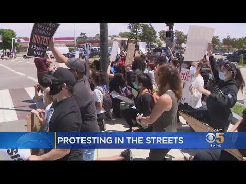 Demonstrators Hold Peaceful