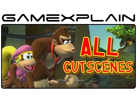 All Cutscenes in Donkey Kong Country: Tropical Freeze (Diddy, Dixie, and Cranky Variations!)
