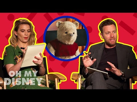 Ewan McGregor and Hayley Atwell Draw Characters From Disney's Christopher Robin  by Oh My Disney