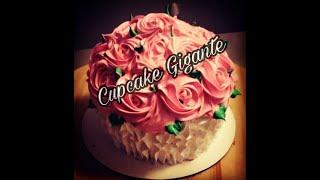 Pastel de Cupcake Gigante Fácil de Hacer.