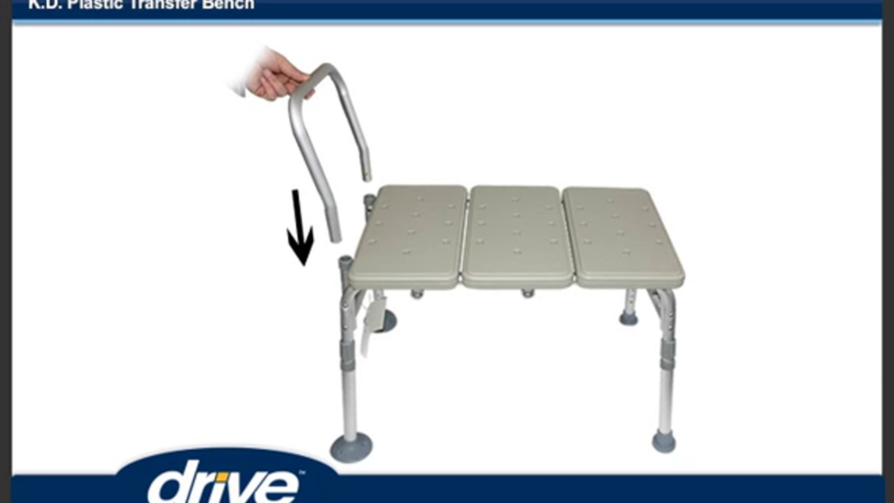 How to Assemble a Drive Medical Transfer Tub Bench - YouTube