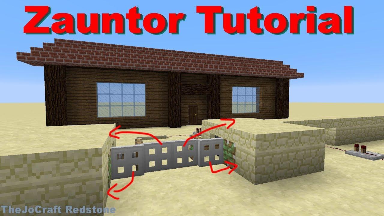 Automatisches Zauntor In Minecraft Tutorial Youtube