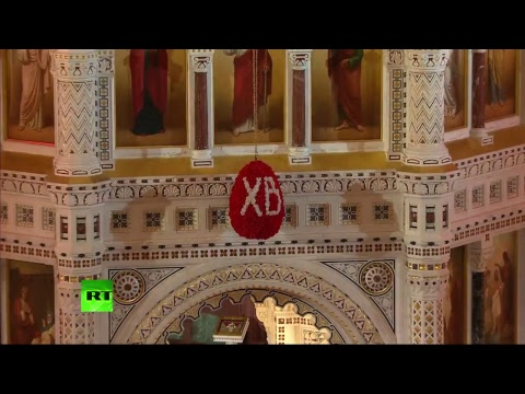 Patriarch Kirill leads Orthodox Easter service at Christ the Saviour Cathedral