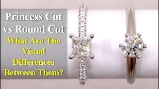Princess Cut vs Round Cut Diamond Engagement Ring Comparison