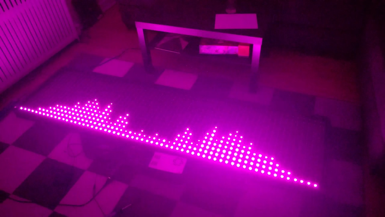 Led music visualizer single color test youtube