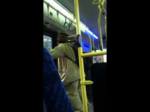 Crazy Rasta on the bus!
