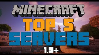 TOP 5 MINECRAFT SERVERS OF ALL TIME!!   (1.10) - 2016 [HD]