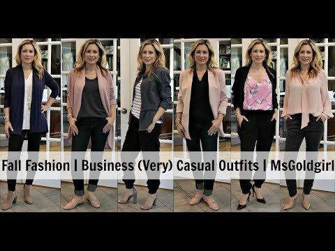 [VIDEO] - Fall Fashion | Business (Very) Casual Outfits | MsGoldgirl 6