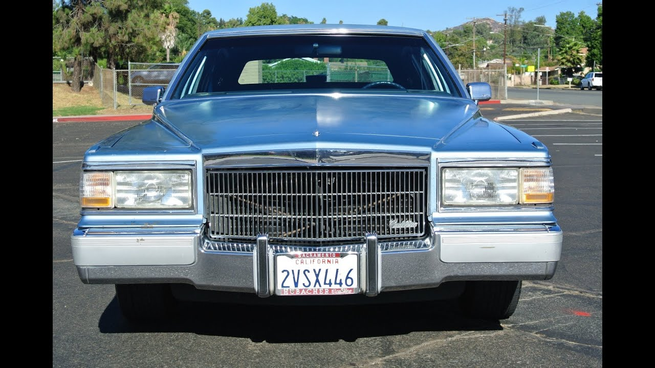 1990 Cadillac Fleetwood Brougham Delegance 350 V8 1 Owner Low Miles