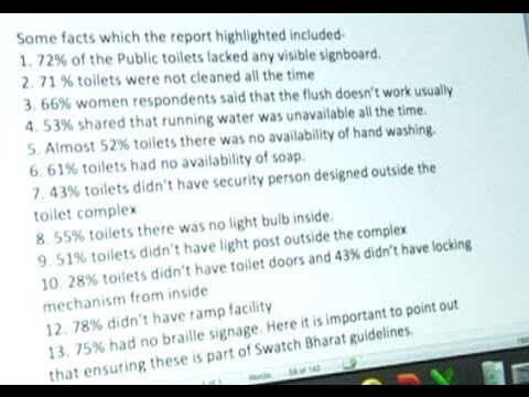 Survey of 'Bad Conditions of Female Public Toilets under MCD'