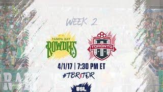 USL LIVE - Tampa Bay Rowdies vs Toronto FC II 4/1/17