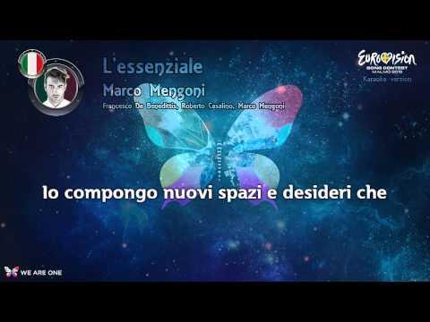 "Marco Mengoni - ""L'essenziale"" (Italy) - Karaoke version"