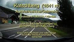 Katschberg – Österreich/Austria/Autriche - Blick durch die Windschutzscheibe - Komplett & Echtzeit