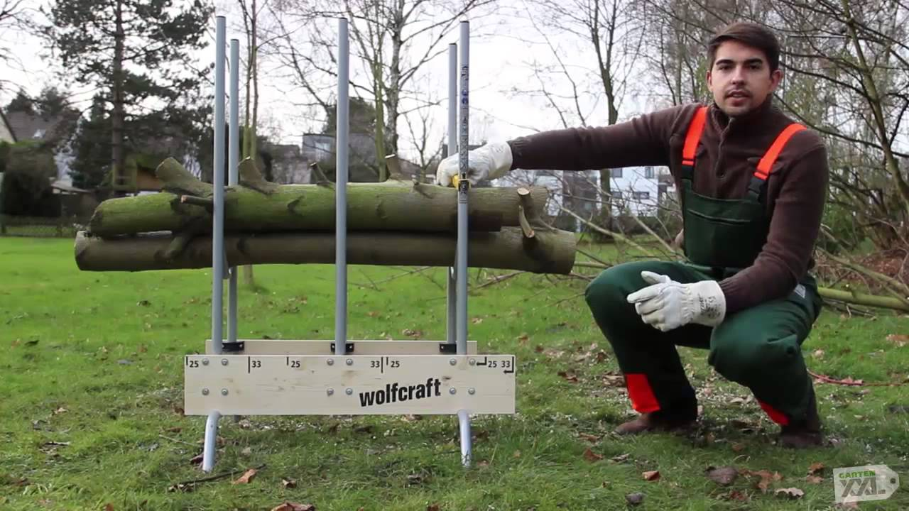 sägebock wolfcraft - gartenxxl - youtube