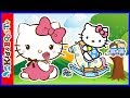 HELLO KITTY Fun Day Coloring Book Pages SPEED COLORING Kids Videos White Kitty Play Colouring Games