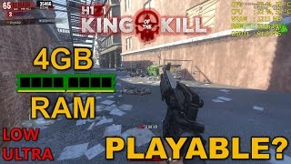 H1Z1: King Of The Kill with 4GB of RAM, is it playable?