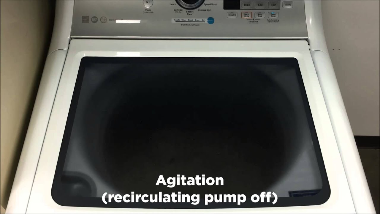 Top Load Washer Normal Sounds