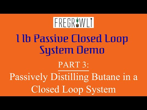 Part 3: Passively Distilling Butane In A Closed Loop System