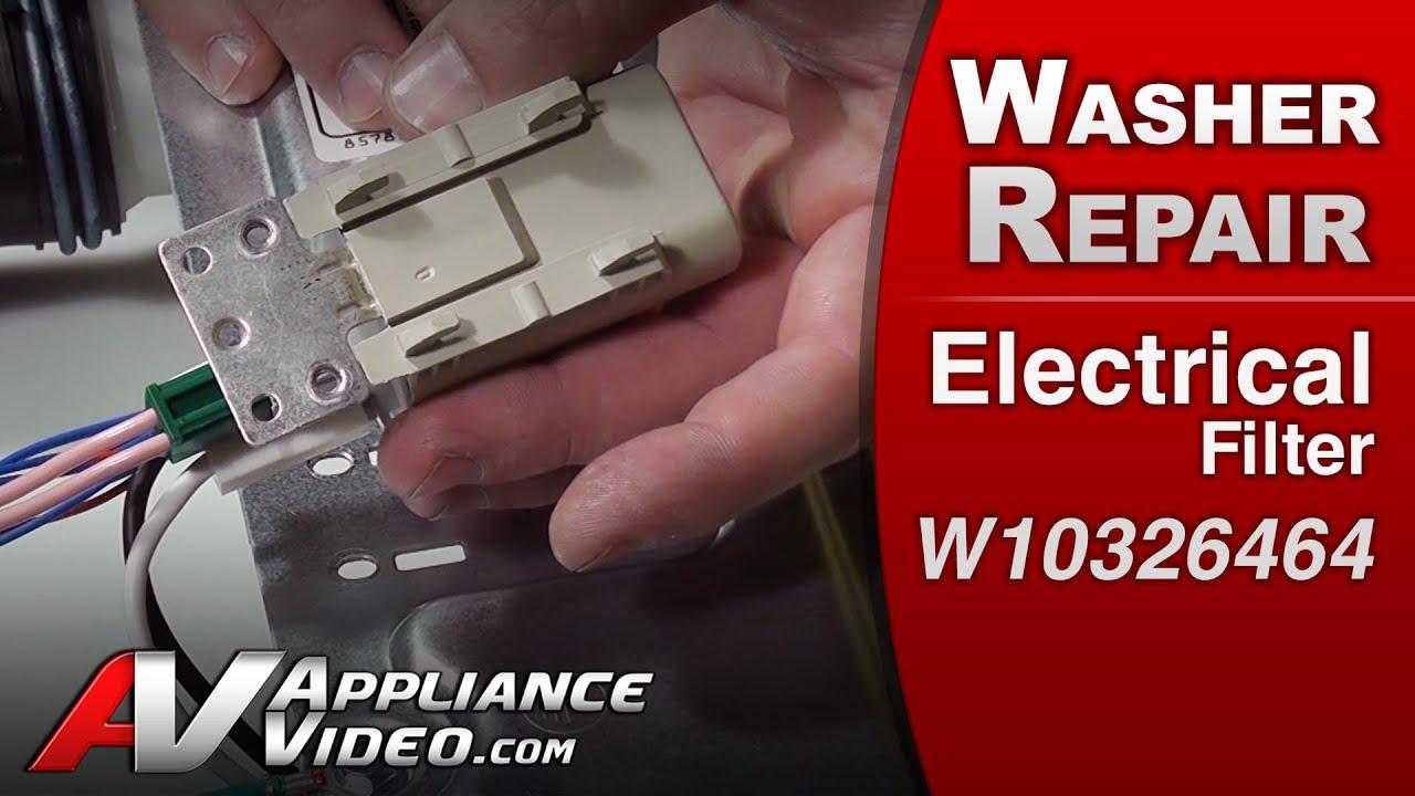 Electrical Filter Washer Repair Whirlpool W10326464 Replacement Washing Machine Motor Capacitor Wiring Diagram Part