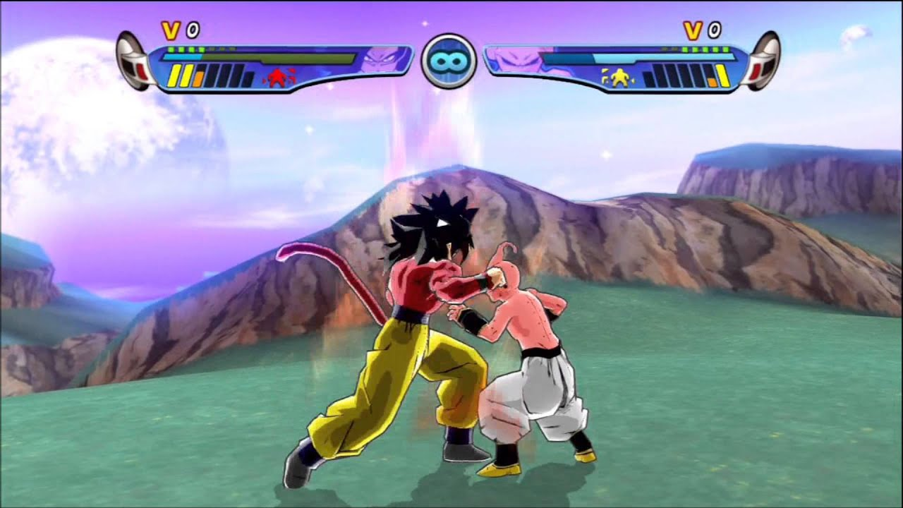 Dragon Ball Z Budokai HD Collection Goku SSJ4 Vs Kid Buu