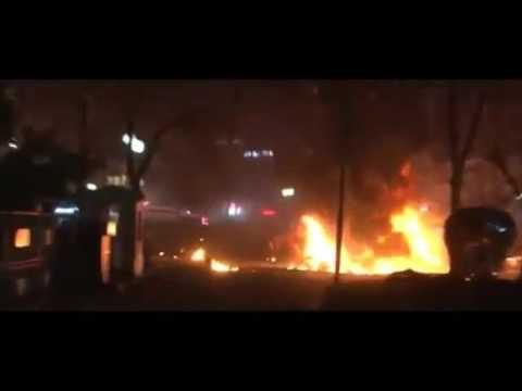 Turkey Explosion Footage  Ankara Hit by Car Bombing, 33 killed