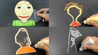 Baldi's Basics Pancake Art - Baldi, Playtime, Bully, Arts and Crafters