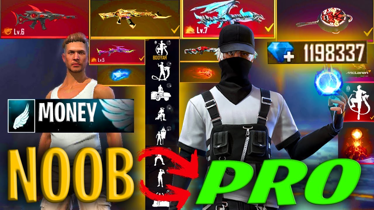 Free Fire new account to *PRO* rich player - look how it became😱🔥