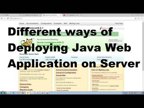 51 Different Ways Deploying Java Web Application In Server |Adv Java Servlet Programming Tutorial