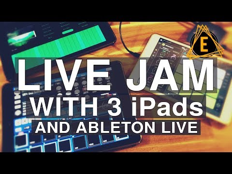 Live Jam with 3 iPads and Ableton Live
