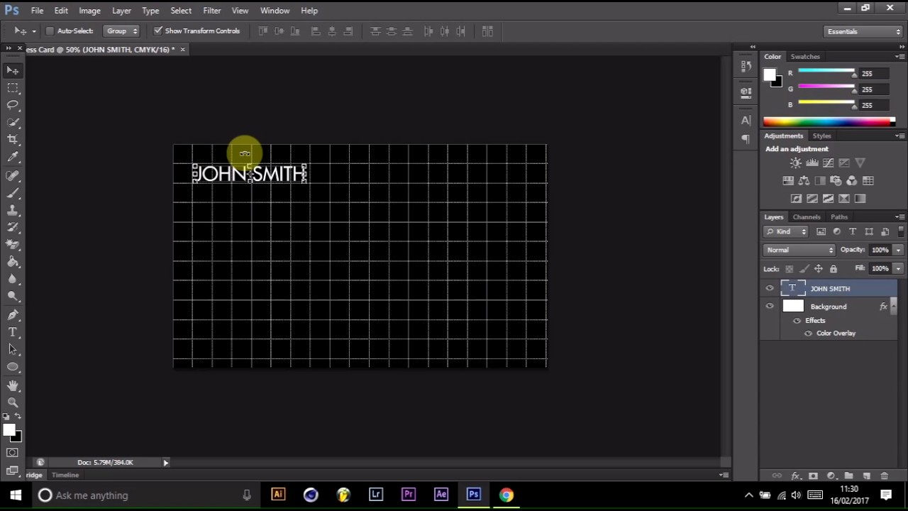 How To Create A Business Card In Photoshop 2017