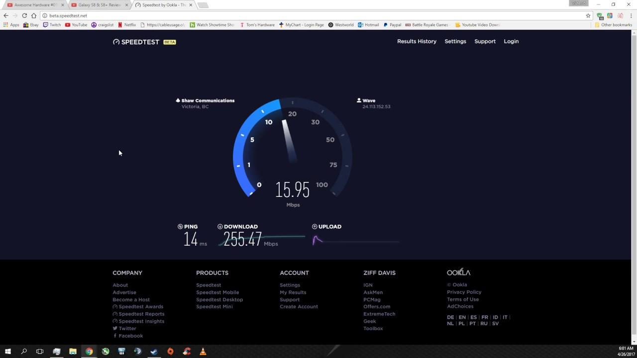 Wave Broadband 250mbps Speed Test Youtube