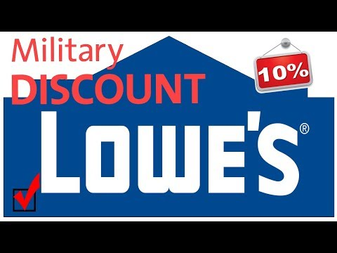 Lowes 10% Military Discount UPDATE