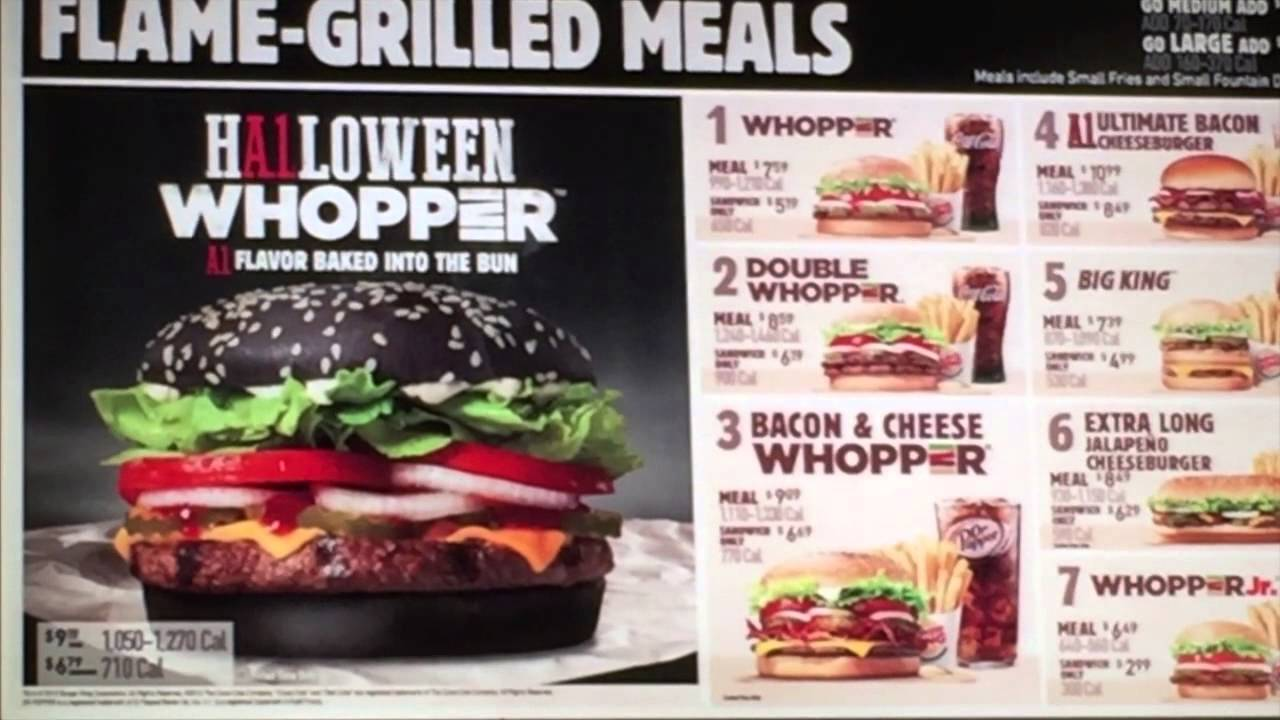 Burger King Halloween Whopper Menu Graphic - YouTube