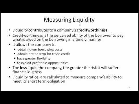 CFA Level I Working Capital Management Video Lecture by Mr.