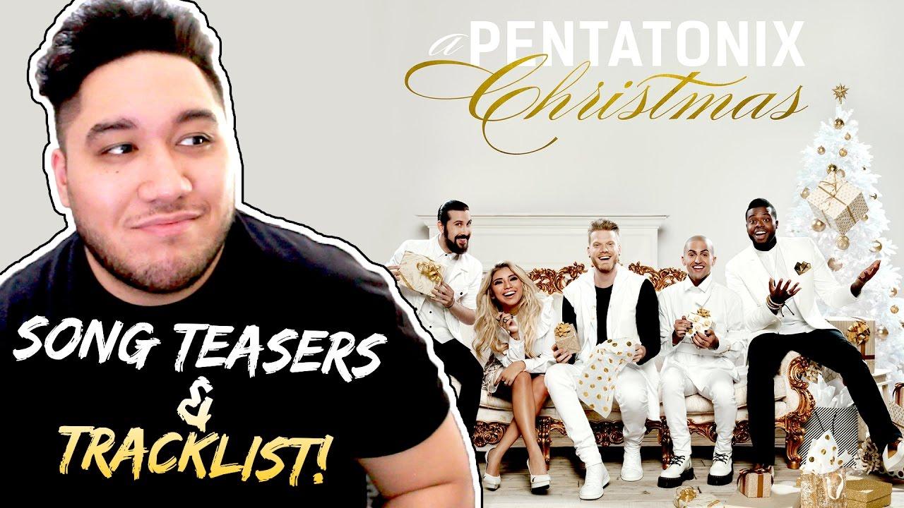 A Pentatonix Christmas | Song Teasers + Tracklist REACTION ...