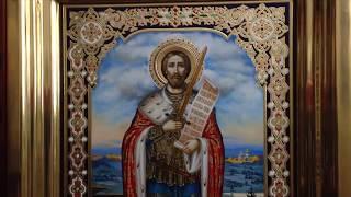 Сумская Икона Святой Благоверный Александр Невский Обзор Готовой Иконы Ростовая Икона в Киоте