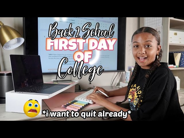 First Day of School GRWM + Vlog | College Edition | LexiVee03