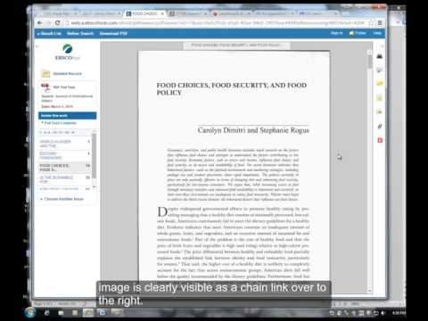 Library | How to find the permanent link to online journal articles