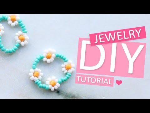 DIY Tutorial - Perlen Blume mit Rocailles - Machen Sie Ihren eigenen Schmuck
