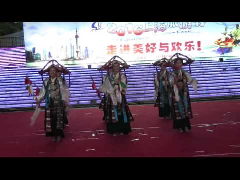 【Strawberry Alice】2016 Shanghai Tourism Festival: Folk performance of Shigatse, Tibet, China.
