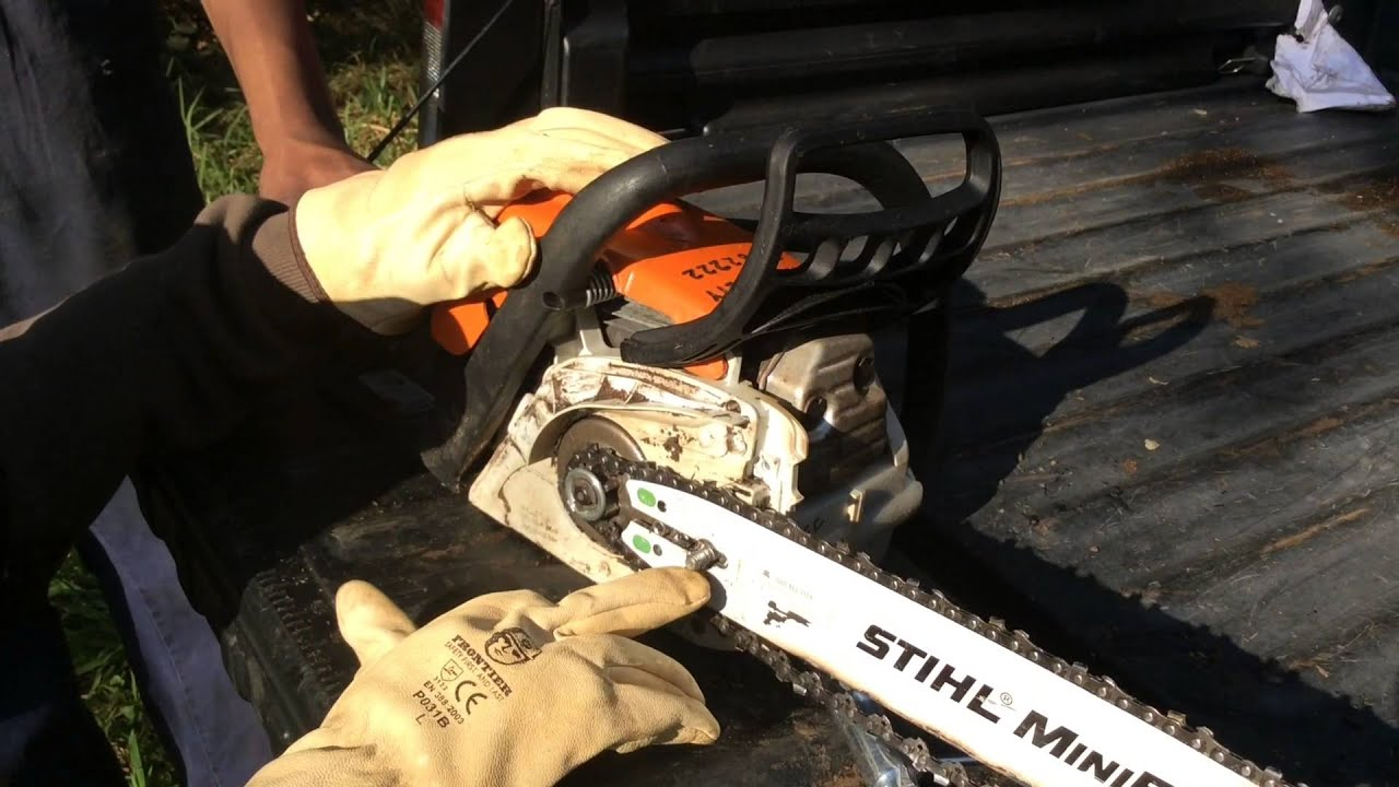 How to tension a chain on a stihl chainsaw youtube how to tension a chain on a stihl chainsaw greentooth Gallery