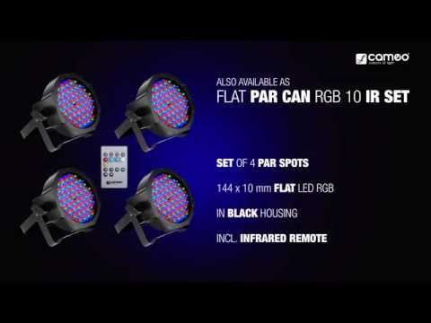 Cameo FLAT PAR CAN RGB 10 - 144 x 10 mm FLAT LED RGB PAR Spot light in black housing