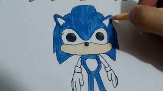 Cómo PINTAR a 😊SONIC FUNKO POP 😉/how to PAINT SONIC FUNKO POP