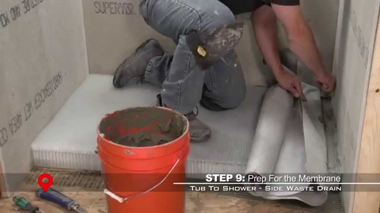 Proline Drain Tub To Shower Conversion Over Concrete Slab