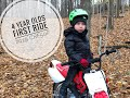 4 Year Olds First Dirt Bike Ride: 2019 Honda CRF50