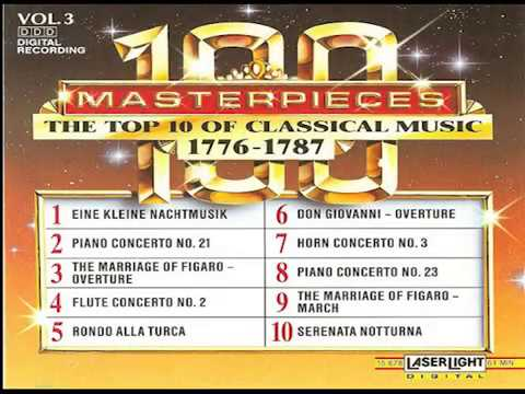 The Top 100 Masterpieces of Classical Music 【 Vol 3】10 Volume Set Digital Recording