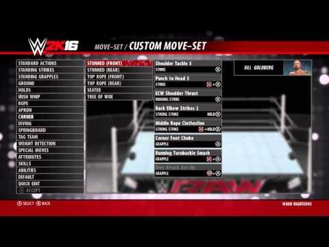 WWE 2K16 Goldberg Moveset