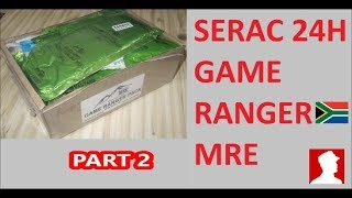 South African Ration Review: SERAC 24H Game Ranger Pack Menu 2 part 2 of 2